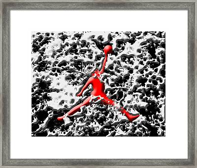 Air Jordan 5d Framed Print by Brian Reaves
