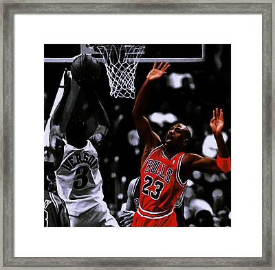 Air Jordan And Allen Iverson Framed Print by Brian Reaves