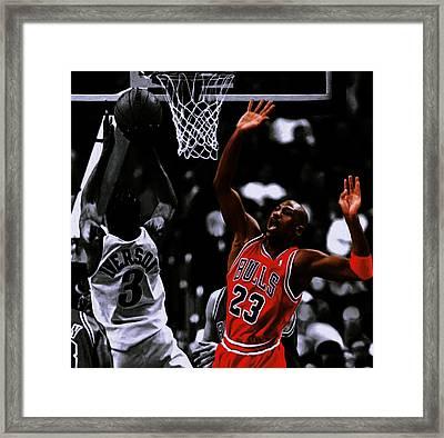 Air Jordan And Allen Iverson Framed Print