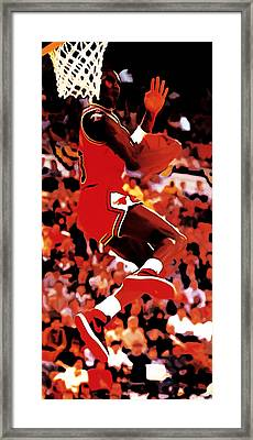 Air Jordan Cradle Dunk Framed Print