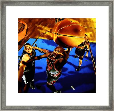 Air Jordan Finger Roll Framed Print