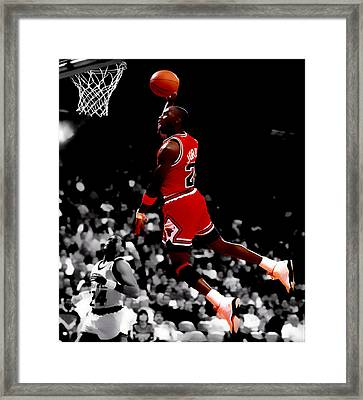 Air Jordan Flight Path Framed Print by Brian Reaves