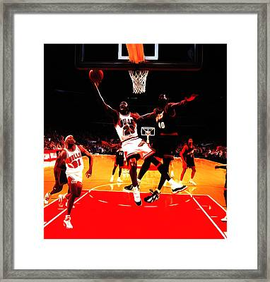Air Jordan In Flight 3b Framed Print by Brian Reaves