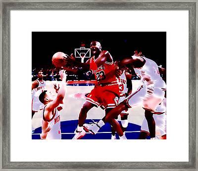 Air Jordan In Traffic Framed Print by Brian Reaves