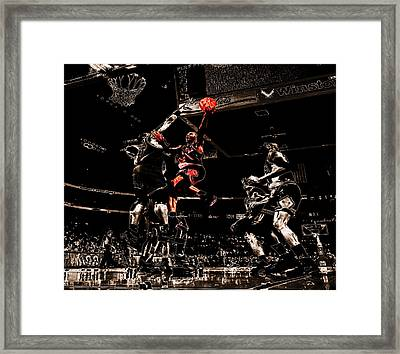Air Jordan Left Hand Framed Print by Brian Reaves
