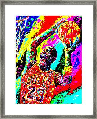 Air Jordan Framed Print by Mike OBrien
