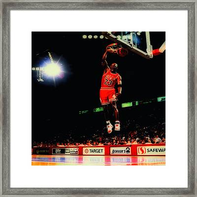 Air Jordan Nasty Slam Framed Print