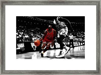 Air Jordan On Shaq Framed Print by Brian Reaves