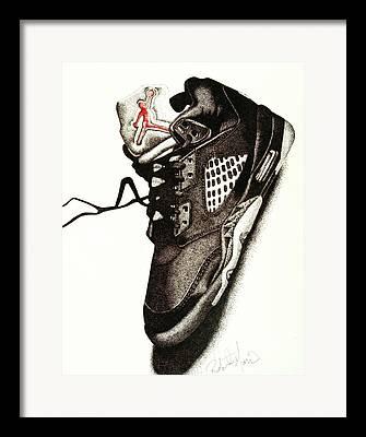 Nike Drawings Framed Prints