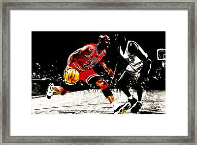 Air Jordan Shake And Bake Framed Print by Brian Reaves