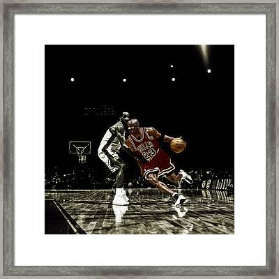 Air Jordan Shake Framed Print by Brian Reaves
