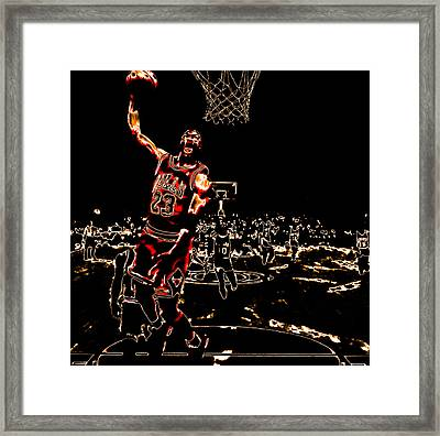 Air Jordan Thermal Framed Print by Brian Reaves