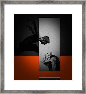 Air Kiss Framed Print by Naxart Studio