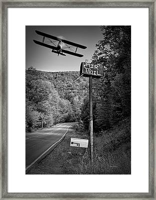Air Mail Delivery Maine Style Framed Print by Bob Orsillo
