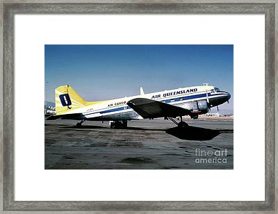 Air Queensland Douglas C-47a-20-dk, Vh-bpl Framed Print by Wernher Krutein