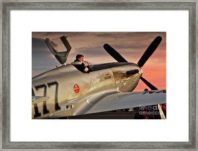 'air Racing Legends Jimmy Leeward And  The Galloping Ghost' Framed Print