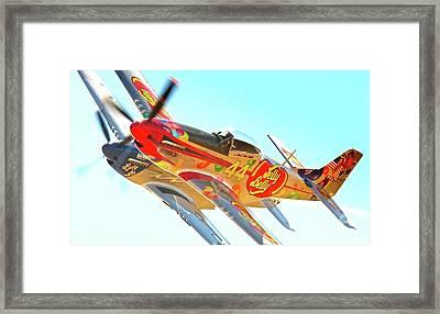 Air Racing Reno Style Framed Print by Gus McCrea