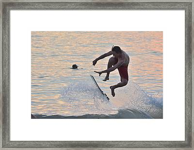 Air Time Framed Print by Don Columbus