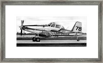 Air Tractor Framed Print by Lyle Brown