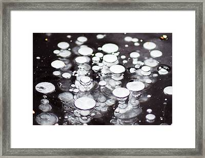Air Trapped In Ice Framed Print
