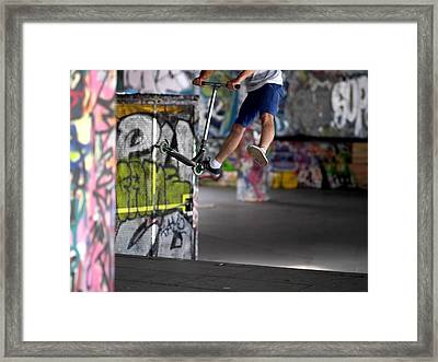Airborne At Southbank Framed Print