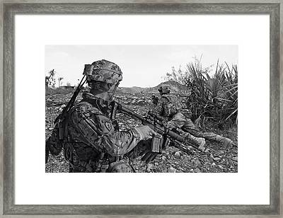 Airborne Recon Afghanistan Framed Print by Daniel Hagerman