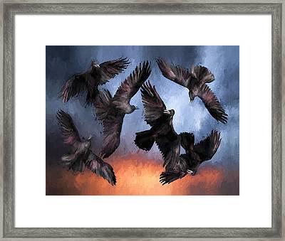 Airborne Unkindness Framed Print