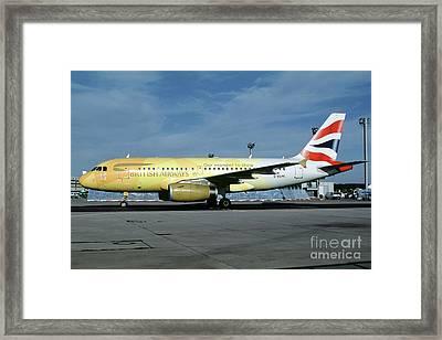 Airbus A319-131, British Airways, G-eupc, Olympic Torch Relay, O Framed Print by Wernher Krutein