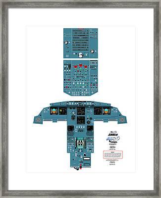 Airbus A320 Cockpit Framed Print