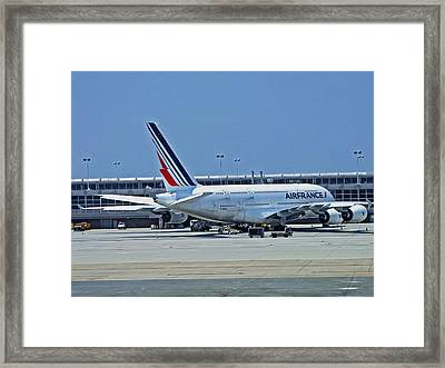Airbus A380 Air France Framed Print