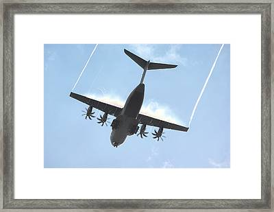 Framed Print featuring the photograph Airbus A400m by Tim Beach
