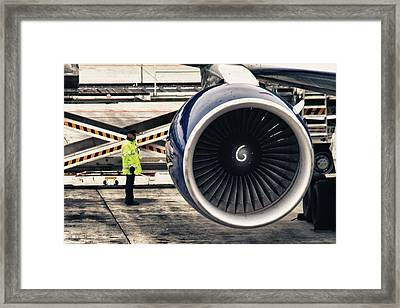 Airbus Engine Framed Print by Stelios Kleanthous
