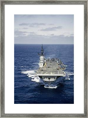 Aircraft Carrier Increases Speed Framed Print by J. Baylor Roberts