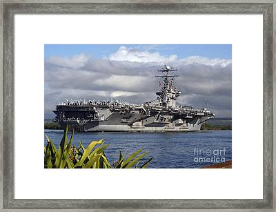 Aircraft Carrier Uss Abraham Lincoln Framed Print by Stocktrek Images