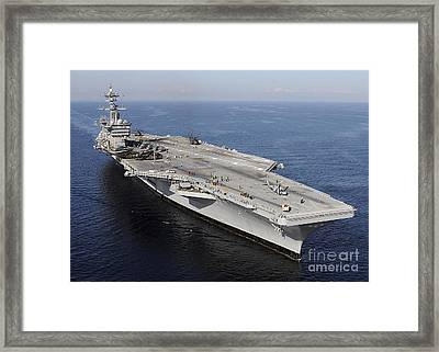 Aircraft Carrier Uss Carl Vinson Framed Print
