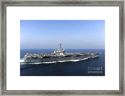 Aircraft Carrier Uss John C. Stennis Framed Print by Stocktrek Images