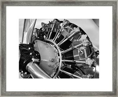 Aircraft Engine Framed Print by Ludwig Keck