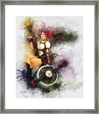 Aircraft Girl Framed Print