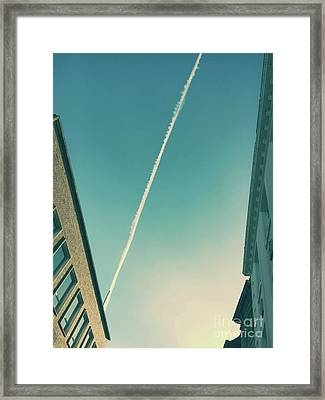 Aircraft Smoke Framed Print