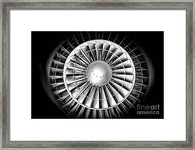 Aircraft Turbofan Engine Framed Print