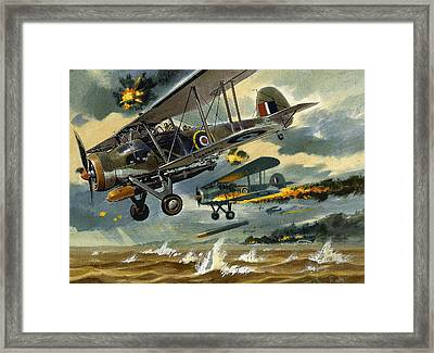 Aircraft Under Fire Framed Print