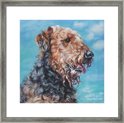Airedale Terrier Framed Print by Lee Ann Shepard