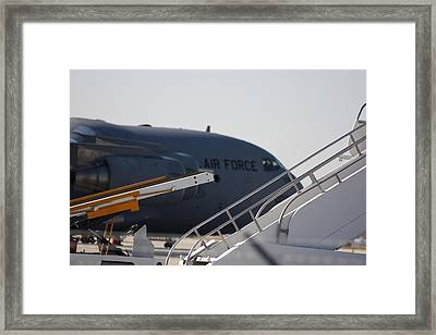 Framed Print featuring the photograph Airforce Plane by Michael Albright