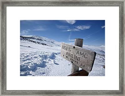 Airline Trail - White Mountains New Hampshire Framed Print by Erin Paul Donovan