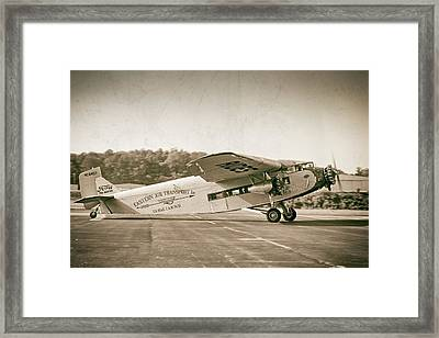 Airline Travel 1929 Framed Print by Chris Buff