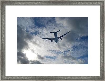 Airliner 01 Framed Print by Mark Alan Perry