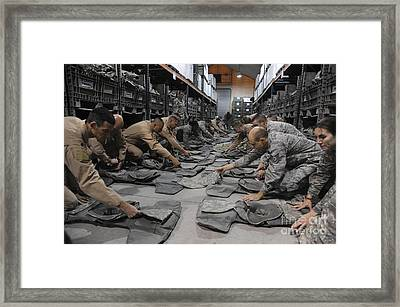 Airmen Inspect Their Improved Outer Framed Print