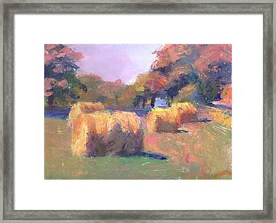 Airmont Hay Bales Morning Framed Print