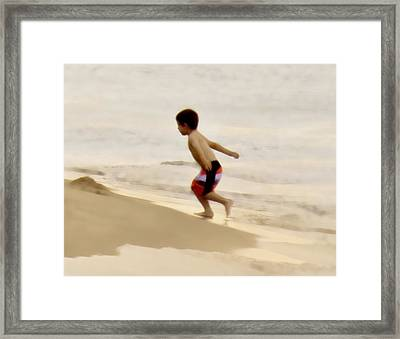 Airplane Boy Framed Print