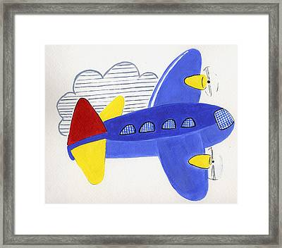 Airplane Framed Print by Christine Quimby